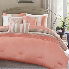 Madison Park Amherst 7pc Coral Comforter Set - Cal King