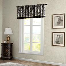 Madison Park Aubrey Jacquard Window Valance - Black - 50 x 18""