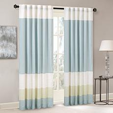 Madison Park Carter Polyoni Pintuck Window Curtain - Green - 50 x 84""