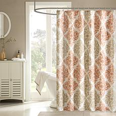 Madison Park Claire Shower Curtain - Spice