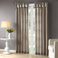 "Madison Park Emilia Curtain - Pewter - 50"" x 95"""