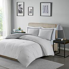 Madison Park Essentials Stripe Down Alt. Comforter Set - Full/Queen