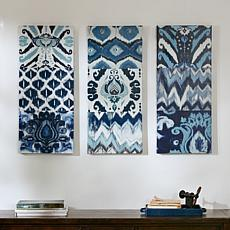 Madison Park Flourish Ikat Gel Coat Canvas - 3-pc Set