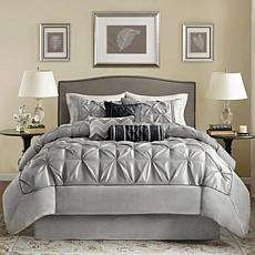 Madison Park Gray Laurel Comforter Set - Cal King