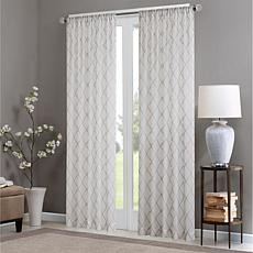 "Madison Park Irina Diamond Sheer Window Curtain - 50"" x 84"""