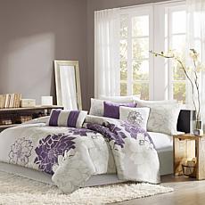 Madison Park Lola Comforter Set King Gray/Purple