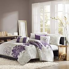 Madison Park Lola Gray/Purple Duvet Set - Full/Queen