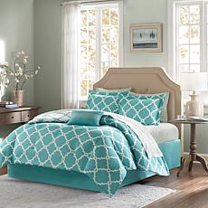 Madison Park Merritt 7pc Bedding Set - Twin/Aqua