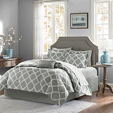 Madison Park Merritt 7pc Bedding Set - Twin/Gray
