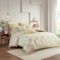 Madison Park Nisha Yellow Comforter Set - Full/Queen