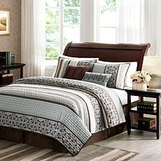 Madison Park Princeton 5pc Coverlet Set Full/Queen/Blue