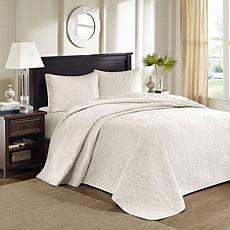 Madison Park Quebec Full Quilted Bedspread Set - Ivory