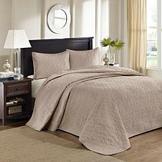 Madison Park Quebec King Quilted Bedspread Set - Khaki