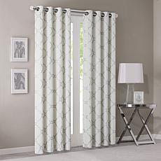"""Madison Park Saratoga Curtain - Ivory - 50"""" x 84"""""""