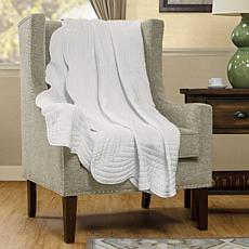 Madison Park Tuscany Throw with Scalloped Edges - White