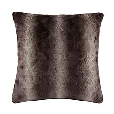 "Madison Park Zuri Faux Fur Euro Pillow 25""x25"" - Chocolate"