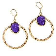 Magnificent Magnifiers Simulated Gemstone Drop Earrings