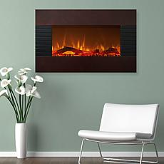 Mahogany Electric Fireplace - Wall Mount and Floor Stand And Remote...