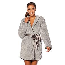 Maidenform Plush Robe with Satin Sash