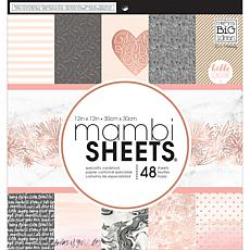 Mambi Single-Sided Paper Pad 12 x 12 48-pack - Rose Gold