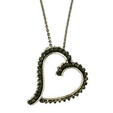 "Marcasite Sterling Silver ""Heart"" Pendant"