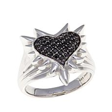"Margo Manhattan 0.39ctw Black Spinel ""Malta"" Heart Ring"
