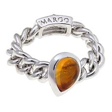 Margo Manhattan Citrine and Topaz Chain Link Ring