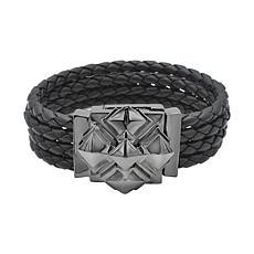 Margo Manhattan Maxine Black Rhodium Leather Cuff