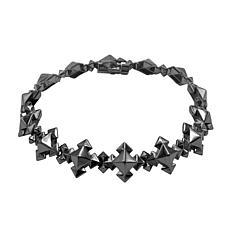Margo Manhattan Maxx Black Rhodium Sterling Silver Station Bracelet
