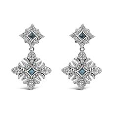 Margo Manhattan Sterling Silver Topaz Convertible Drop Earrings