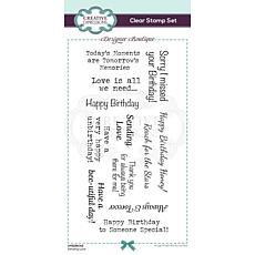 Marianne Design Designer Boutique Sending Love DL Clear Stamp Set