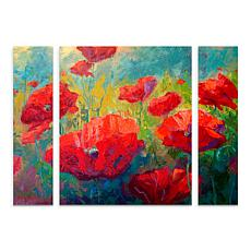 """Marion Rose """"Field of Poppies"""" Panel Art - 24"""" x 32"""""""