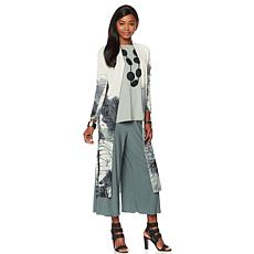 Marla Wynne Printed Knit Duster