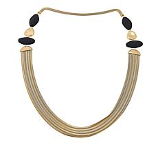 "MarlaWynne 45"" Multi-Row Freeform Station Necklace"