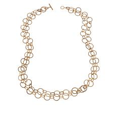 "MarlaWynne 46"" Matte Multi-Link Chain Necklace"