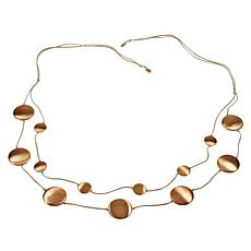 """MarlaWynne 62"""" Multi-Circle Suede Cord Station Necklace"""