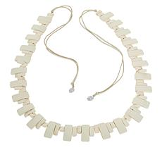 "MarlaWynne 63"" Double-Layer Suede Cord Piano Necklace"
