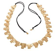 """MarlaWynne 63"""" Double-Layer Suede Cord Piano Necklace"""