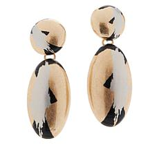 MarlaWynne Abstract Paint-Design Drop Earrings