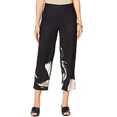 MarlaWynne Border Print Cropped Pant