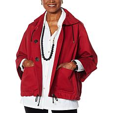 MarlaWynne Canvas Drama Jacket with Pockets