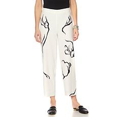 MarlaWynne Cropped Printed Trouser
