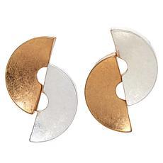 MarlaWynne Double Half Circle Stud Earrings