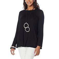 MarlaWynne Jersey Knit Butterfly Tee with Pockets