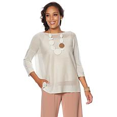 MarlaWynne Lightweight Mixed Stitch Sweater with Cami