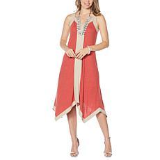 MarlaWynne Linen Jersey Handkerchief Midi Dress