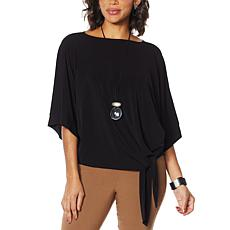 MarlaWynne Luxe Crepe Side Tie Top