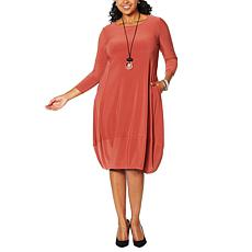 MarlaWynne Matte Jersey Dress with Pockets