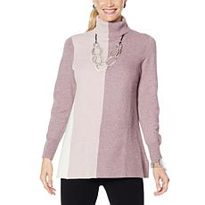 MarlaWynne Milano Soft Knit Colorblocked A-Line Sweater
