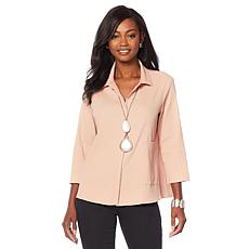 MarlaWynne One-Pocket Ripple Button Down Shirt